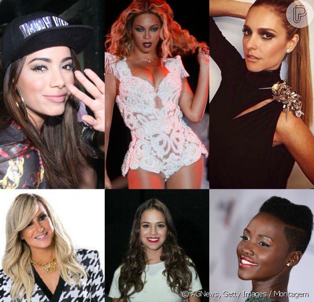 Anitta, Beyoncé, Fernanda Lima, Claudia Leitte, Bruna Marquezine, Lupita Nyong'o e mais famosas adoram usar looks valiosos. Relembre preços!