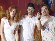 Sophia Abrahão e Di Ferrero posam para campanha de grife em Miami, nos EUA