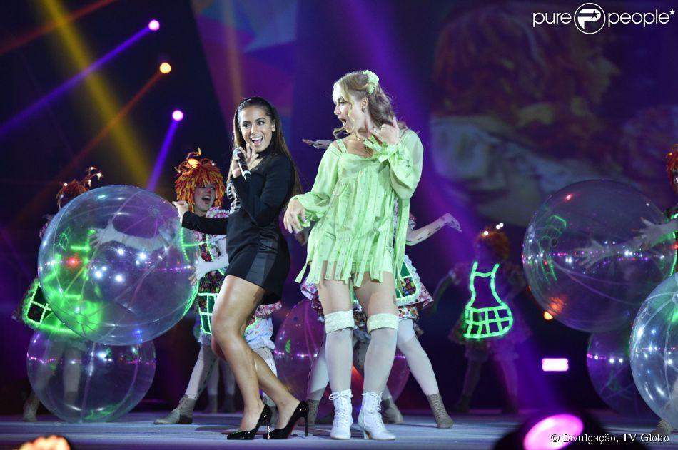 Anitta e ang lica cantam juntas em comemora o dos 50 anos - Globos 50 anos ...
