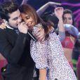 Luan Santana posa com Ivete Sangalo no 'Domingão do Faustão', da Globo