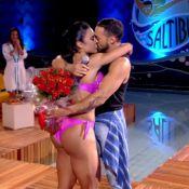 Gracyanne Barbosa ganha flores de Belo e elimina Yanna Lavigne no 'Saltibum'
