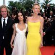 Zoë Kravitz, filha de Lenny Kravitz, e Charlize Theron no segundo dia do Festival de Cannes 2015, nesta quinta-feira, 14 de maio de 2015