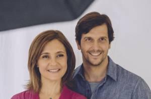 Adriana Esteves se derrete ao falar do marido, Vladimir Brichta: 'Sorte minha'