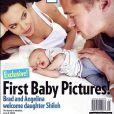 O casal Bragelina foi capa da revista 'People' quando a filha Shiloh, de 9 anos, nasceu