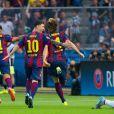 Neymar já havia conquistado, em menos de um mês, a Copa do Rei e o Campeonato Espanhol