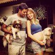 Maria Eduarda é a primeira filha de Debby com o veterinário Leandro Franco