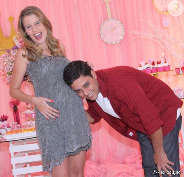 Debby Lagranha deu à luz Maria Eduarda na manhã desta quinta-feira, 6 de junho de 2013