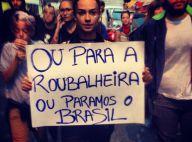 Fernanda Paes Leme, Thaila Ayala e famosos vão às ruas participar de protestos