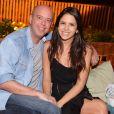 O jornalista esportivo e apresentador da TV Globo Alex Escobar prestigiou Glenda ao lado da mulher, Thamine  Leta