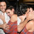 Glenda Kozlowski se emociona ao lado do marido, Luis Tepedino, e ganha um beijo apaixonado na festa de aniversário comemorada na noite desta quinta-feira, 09 de julho de 2015