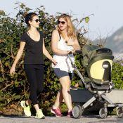 Recém-separada, Carolinie Figueiredo passeia na orla com filho e Bianca Bin