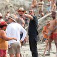 Juliano Cazarré é dirigido por Heitor Dhalia antes de rodar 'Serra Pelada' em meio aos 400 figurantes que participam das cenas