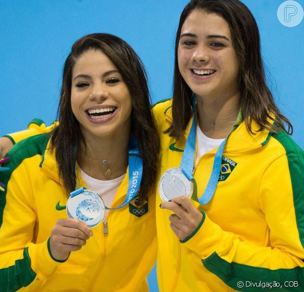 As atletas brasileiras Ingrid Oliveira e Giovanna Pedroso conquistaram a medalha de prata nesta segunda-feira, 13 de julho de 2015