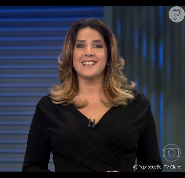 Christiane Pelajo volta a apresentar o 'Jornal da Globo' após acidente: 'Feliz', nesta segunda-feira, 13 de julho de 2015