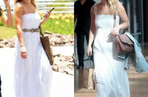 8a577f465 Carolina Dieckmann repete vestido e usa óculos de R$ 2 mil em shopping no  Rio