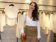Agatha Moreira prestigia evento de moda em São Paulo ao lado de blogueiras