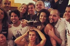 Carolina Dieckmann faz festa com Luciano Huck, Angélica e mais famosos. Vídeos!