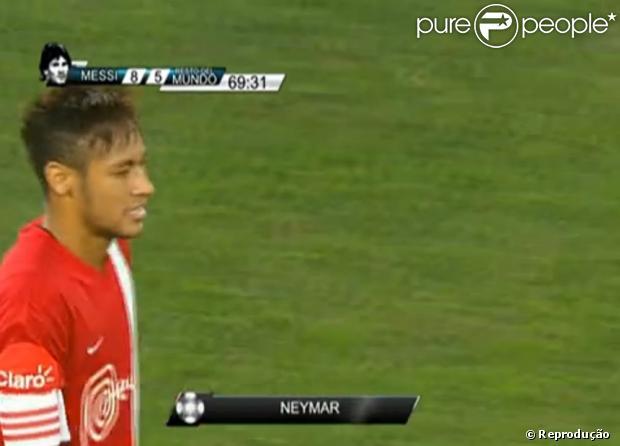 Neymar faz golaço em jogo beneficente organizado por Lionem Messi