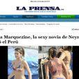 Marquezine ganhou destaque na imprensa peruana
