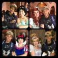 Neymar se diverte ao lado das princesas da Disney, em 10 de dezembro de 2012