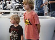 Filhos de Angélica e Luciano Huck, Joaquim e Benício vão a ensaio do Rock in Rio