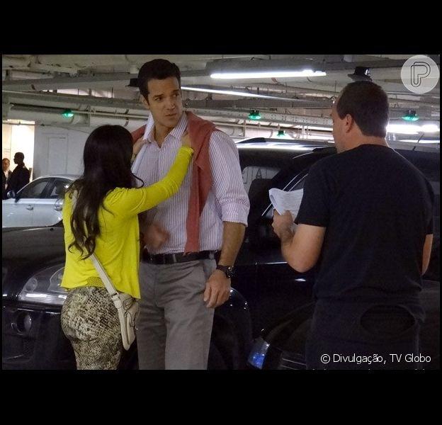 Valdirene (Tatá Werneck) será pedida em casamento por Ignácio (Carlos Machado), milionário em 'Amor à Vida'; os atores gravaram as primeiras cenas nesta terça-feira 30 de julho de 2013