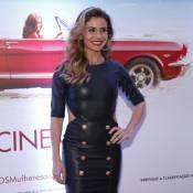 Giovanna Antonelli usa vestido de couro de R$ 3.490 em pré-estreia no Rio