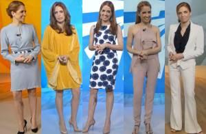 Poliana Abritta completa um ano no 'Fantástico'! Veja looks da apresentadora