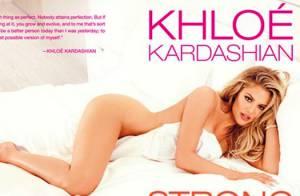 Khloé Kardashian posa nua em capa de livro biográfico: 'Não existe perfeição'