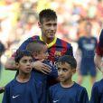Neymar estreou pelo Barcelona em amistoso contra o time polonês Lechia Gdansk