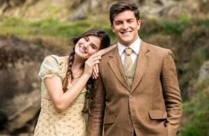 Camila Queiroz e Klebber Toledo gravam cenas de 'Eta Mundo Bom' em cachoeira