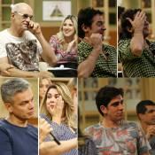 Bruno Mazzeo e elenco choram em coletiva da 'Escolinha do Professor Raimundo'