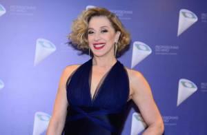 Claudia Raia elogia filha como repórter do 'Vídeo Show':'Quase uma Hebe Camargo'