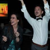 Cleo Pires dança com estilista inglês em festa de lançamento de coleção no Rio