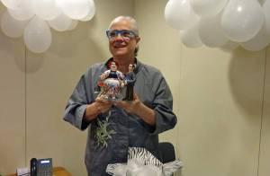 Vera Holtz ganha festa surpresa de aniversário e se despede de Dona Redonda