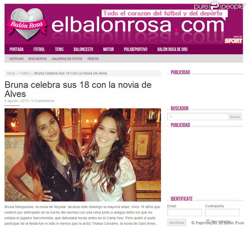 O 'El Balón Rosa' destacou a comemoração do aniversário de 18 anos de Marquezine, no qual Thaissa Carvalho, namorada de Daniel alves, esteve presente