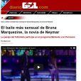 Já o 'Diário Gol' chamou de dança mais sensual. O jornal explicou o movimento 'quadradinho de oito'