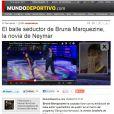 A notícia de maior destaque na imprensa espanhola foi o desempenho de Bruna dançando funk no 'Dança dos Famosos'. O 'Mundo Deportivo' classificou a performance como sedutora