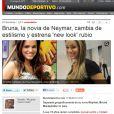 O 'Mundo Deportivo' destacou a mudança no visual de Bruna Marquezine. O jornal mostrou fotos da atriz antes e depois da nova coloração dos fios