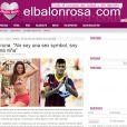 O 'El Balón Rosa' destacou a frase de Marquezine durante um evento promocional. A atriz diz na manchete: 'Não sou um símbolo sexy, sou uma menina'