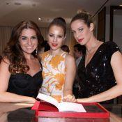 Paolla Oliveira, Piovani e Giovanna Antonelli vão a inauguração de loja no Rio