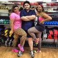 Preta Gil, César Menotti e Gaby Amarantos fazem aula de dança para perder peso para o quadro 'Medida Certa', do 'Fantástico'