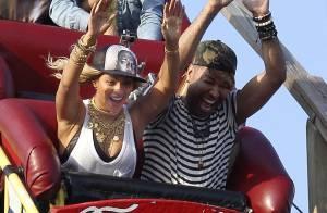 Beyoncé se diverte em montanha-russa para gravação de seu novo clipe