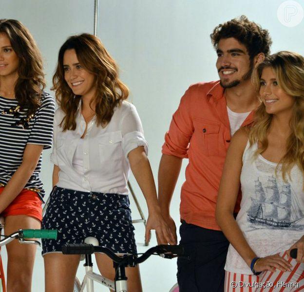 Caio Castro, Fernanda Vasconcellos, Laura Neiva e Tammy di Calafiori estrelam campanha da Hering, em 6 de setembro de 2013