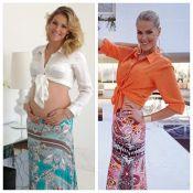 Ana Hickmann compara barriga de 3 meses de gravidez com fotos de antes e depois