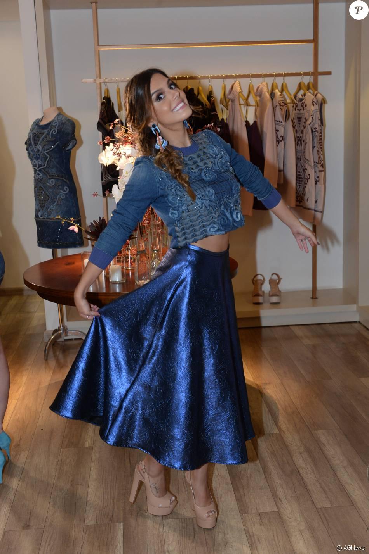 Giovanna Lancellotti foi uma das convidadas especiais do evento de lançamento da nova coleção de Fabiana Milazzo, na noite desta quinta-feira, 25 de fevereiro de 2016, em São Paulo