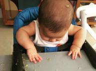 Fernanda Gentil mostra filho com papinha até na cabeça e brinca: 'Bem tranquilo'