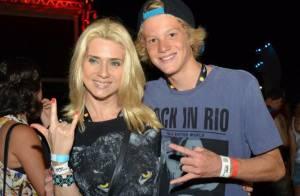 Rock in Rio: Leticia Spiller curte folga de 'Joia Rara' com o filho, Pedro