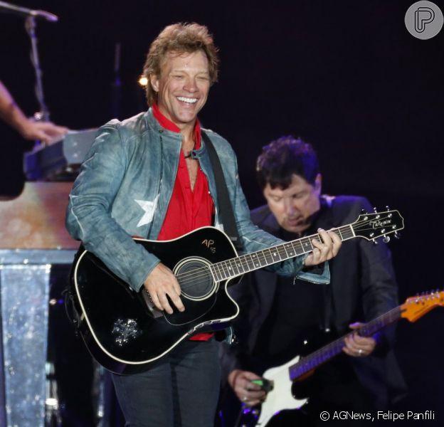 Bon Jovi levantou público durante apresentação no quinto dia de Rock in Rio