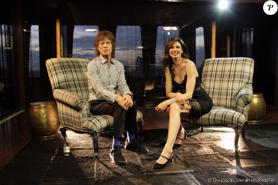 Luciana Gimenez entrevistou Mick Jagger para o Superpop. Conversa vai ao ar na quarta-feira, 2 de março de 2016